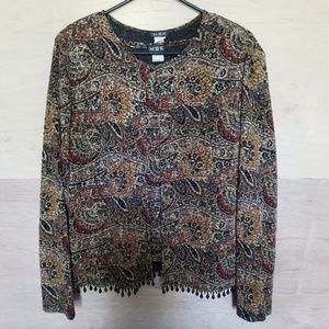 Vintage 2 Piece Blouse and Cardigan by MSK